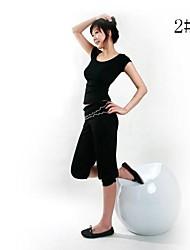 Corrida Calças / Conjuntos de Roupas/Ternos Mulheres Manga Curta Poliéster Ioga Wear SportsInterior / Roupas para Lazer / Espetáculo /