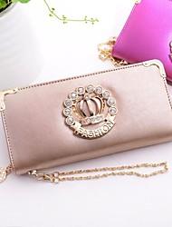 Women's Crown Pattern Made Of Leather And Rhinestone Fashion Crossbody Handbags