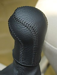 XuJi ™ Black Genuine Leather Gear Shift Knob Cover for Volkswagen VW Jetta 6 Mk6 Manual Transmission