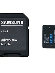 Samsung 8GB Class 6 MicroSDHC Memory Card with SD Card Adapter