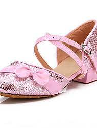 brillantes zapatos de brillo superior de baile de salón modernos zapatos de las mujeres y los niños más colores