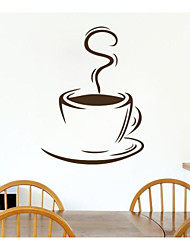 decalcomania della parete autoadesivo della parete modello tazza di caffè jiubai ™, 44 centimetri * 60cm