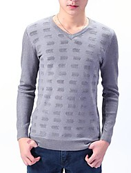 Men's Fashion V-Neck Slim Pullover Long Sleeve Jumpers