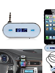 Trådløs 3,5 mm i bilen LCD display FM Transmitter til Apple iPhone 5 Samsung Galaxy S2 SII S3 SIII S4 SIV I9500 Note 2 Note 3