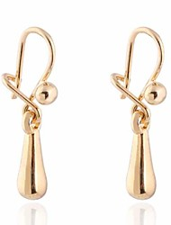 Women's  Women's Fashion Unique Design 18K Gold Zircon Earrings