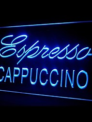 Эспрессо Капучино Реклама светодиодные Вход