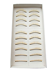 10Pairs European Natural Looking Handmade Yellow Crossed Thicker High-grade Chemical Fiber False Eyelashes