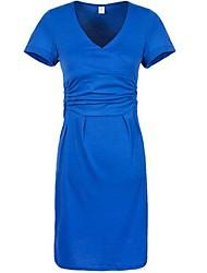 Женское, стильное платье, с V образном вырезом
