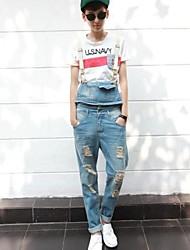 Herrenmode-Loch-Denim-Overalls Jeans