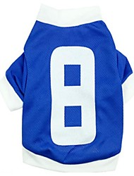 Cool No.8 jersey Style Cotton T-Shirt for Pets Dogs(Assorted Size)