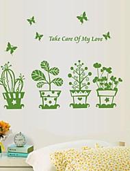 plante paysage pot belle nature de sticker mural
