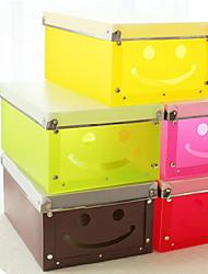 "13.2""Cute Smile Face DIY Plastic Box"