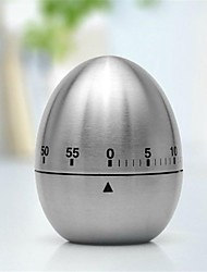 Egg Shaped Stainless Steel Mechanical Twist Timer (60-Minutes)