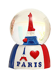 "3.2"" Eiffel Tower and Heart Pattern Music Box"