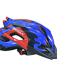 boodun 25 aberturas azul bicicleta de montanha vermelha integralmente moldado capacete ciclismo (56-63 centímetros)