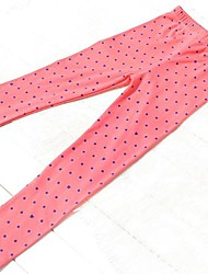 Girl's Fall Wear All Match Trousers with Polka Dots Stretchy Tight Leggings
