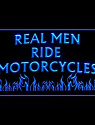 Real Man Ride Motorcycles Advertising LED Light Sign