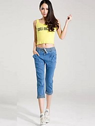 Women's Summer Fashion Trends Manufacturers Baggy Female Elastic Jeans Pants