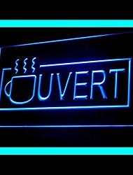Ouvert Coffee Cafe Pubblicità Light LED Sign