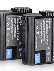 DSTE 7.0V 2550mAh EN-EL15 x 2 Battery + DC113 x 1Charger for Nikon D800  D7000 D610 Camera