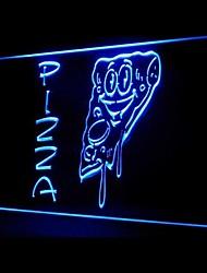 Pizza alimentaire Promotion Vert Bleu Rouge Blanc Orange Violet Jaune Publicité LED Connexion