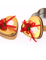 6 Piece/Set Favor Holder - Heart-shaped Iron(nickel plated) Favor Boxes/Favor Tins and Pails Non-personalised