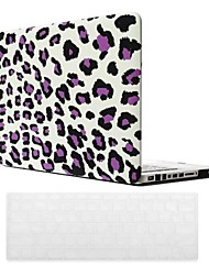 Purple Leopard Grain Design PC Hard Case with Keyboard Cover Skin for MacBook Pro