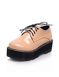 Zapatos de mujer - Plataforma - Plataforma / Creepers - Oxfords - Vestido - Cuero Patentado - Negro / Marrón / Champán