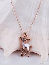 moda liga ródio ouro das mulheres banhado e colar de pedra Checa