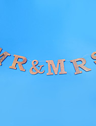 "Wedding Décor ""MR & MRS"" Flower Girl Banner/Photo Booth Props"