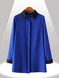 Yinbo зимней моды контраст цвета ayered рубашка