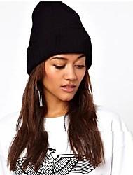 unisex do hiphop moda chapéu de malha monocromático