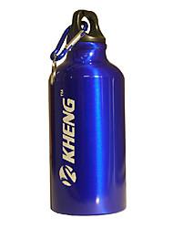 KHENG 400ML Aviation Aluminum+Healthy Plastic Blue Warm Keeping Cycling Water Bottle