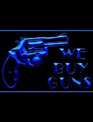 Мы покупаем оружие Светодиодная рекламная света знак