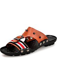 корова мужская кожаная плоским пятки сандалии слайд обувь (больше цветов)
