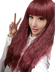 Girl Fashion Corn Curly Synthetic Full Bang Wigs