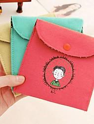 style vintage coton de la signature de l'enfance sac de serviettes hygiéniques couleur aléatoire
