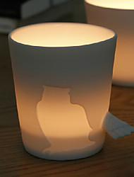 """Cerâmica padrão criativo Lobo Cup com cauda punho, 3,6 x3.2 """"x2.9"""" """""""