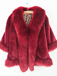 Fashion Thick Sleeveless Shawl Faux Fur Party/Casual Jacket(More Colors)