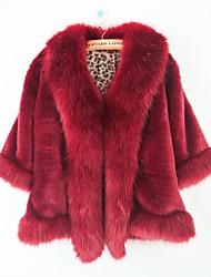fiesta de la piel del faux del mantón de la moda sin mangas de espesor / chaqueta informal (más colores)