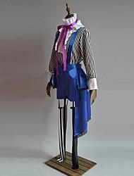 Inspirado por Black Butler Ciel Phantomhive Anime Fantasias de Cosplay Ternos de Cosplay Patchwork Púrpura Manga CompridaColete / Top /