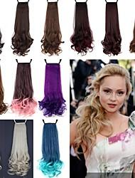 Excelente Qualidade Sintética 18 polegadas 100g longo encaracolado fita peruca rabo de cavalo - 12 cores disponíveis