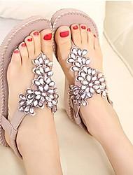 Mulheres Heel flip flops Plano Sandálias Sapatos (mais cores)