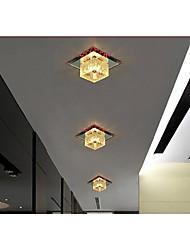 Colorful LED Square Aisle Lights Lamp Ceiling Lamp Foyer Light Room Crystal Ceiling Lamp Voltage 220V