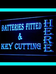 Batteries Fitted Key Cutting Advertising LED Light Sign