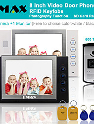 "TMAX® 8"" LCD Video Door Phone Support Photograph SD Card Recording 600TVL IR Camera"