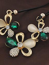 yumfeel типа Кореи формы цветка искусственного бриллиантовое колье женщин