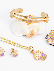 WesternRain Alloy Rhinestone Gold-plated Children's Set