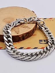 alta qualidade de aço de titânio pulseiras de rabo de cavalo chicote da forma dos homens