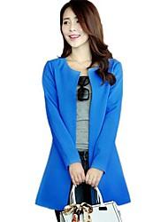 Col rond Solid Color Slim Suit Blousons